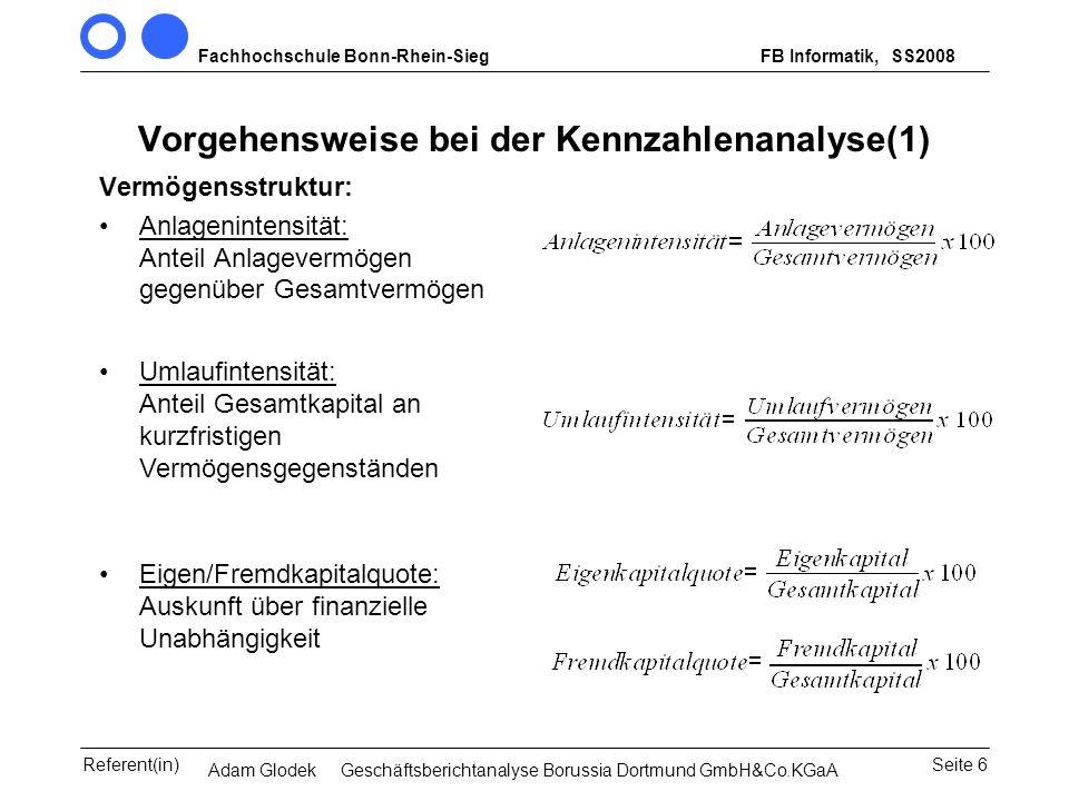 Vorgehensweise bei der Kennzahlenanalyse(1)
