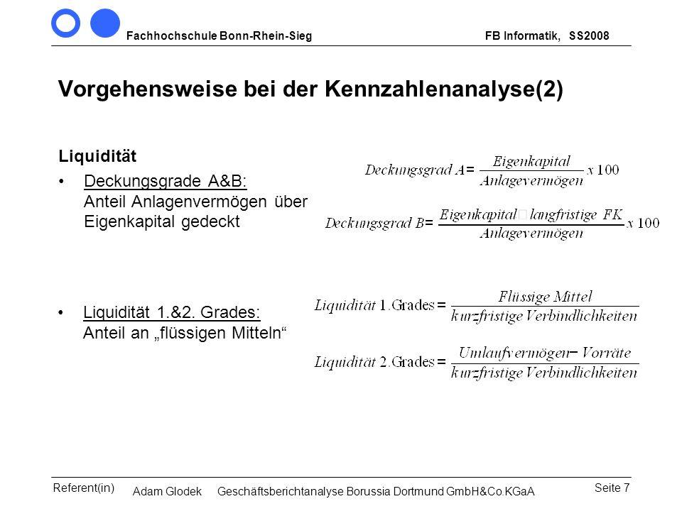 Vorgehensweise bei der Kennzahlenanalyse(2)
