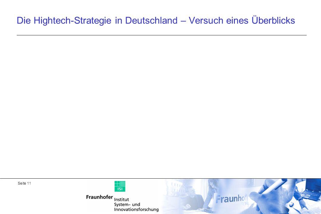 Die Hightech-Strategie in Deutschland – Versuch eines Überblicks