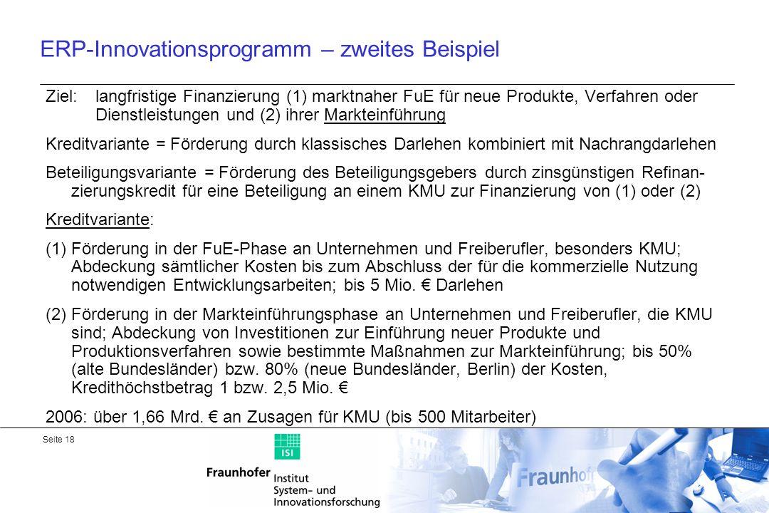 ERP-Innovationsprogramm – zweites Beispiel
