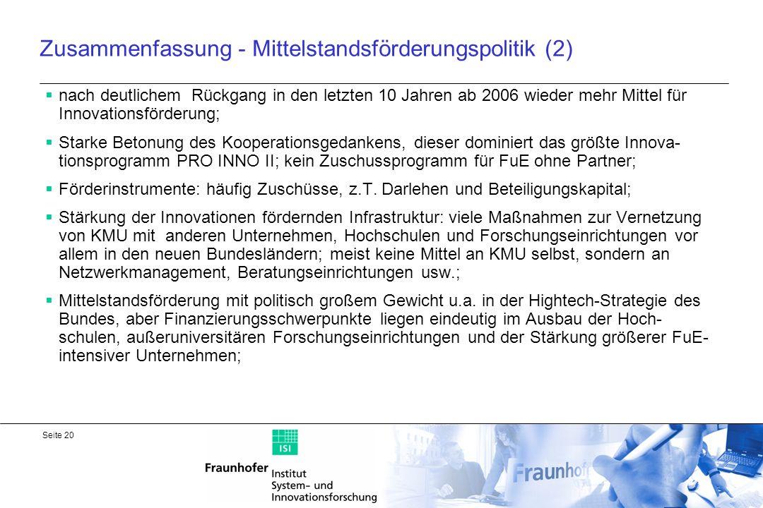 Zusammenfassung - Mittelstandsförderungspolitik (2)