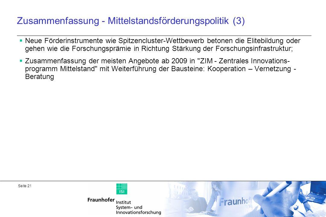 Zusammenfassung - Mittelstandsförderungspolitik (3)