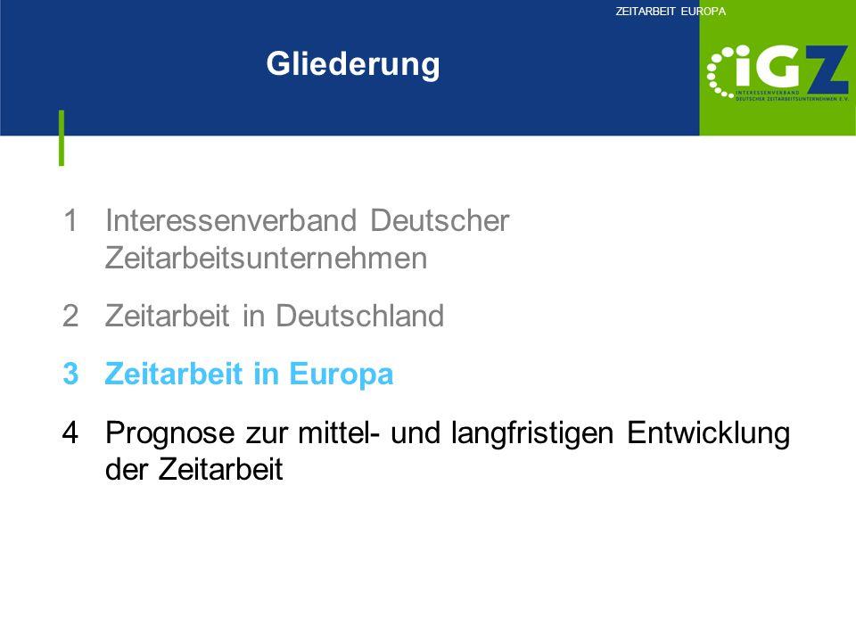 Gliederung Interessenverband Deutscher Zeitarbeitsunternehmen