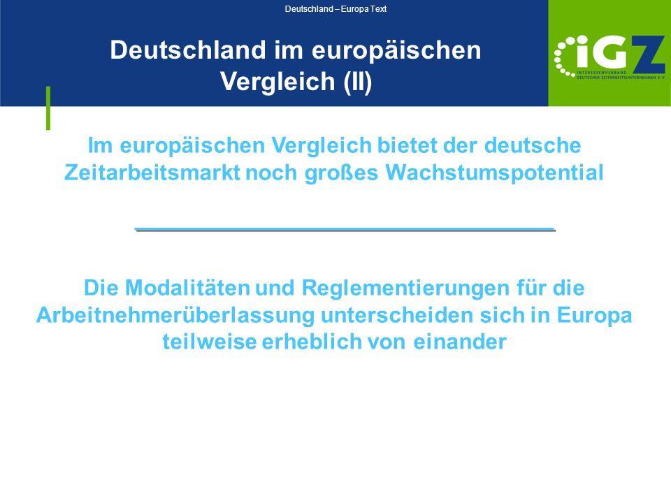Deutschland – Europa Text