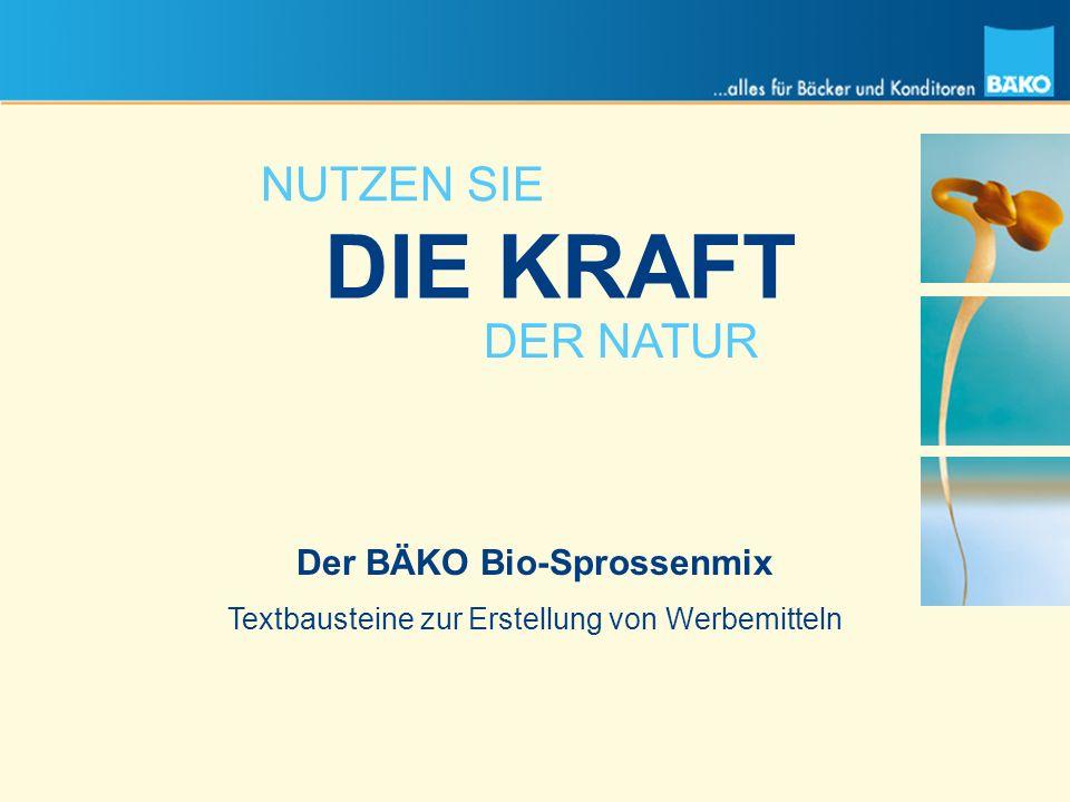 Der BÄKO Bio-Sprossenmix