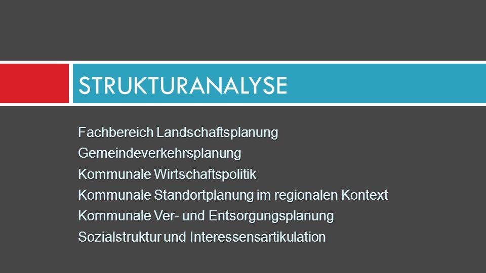 STRUKTURANALYSE Fachbereich Landschaftsplanung Gemeindeverkehrsplanung