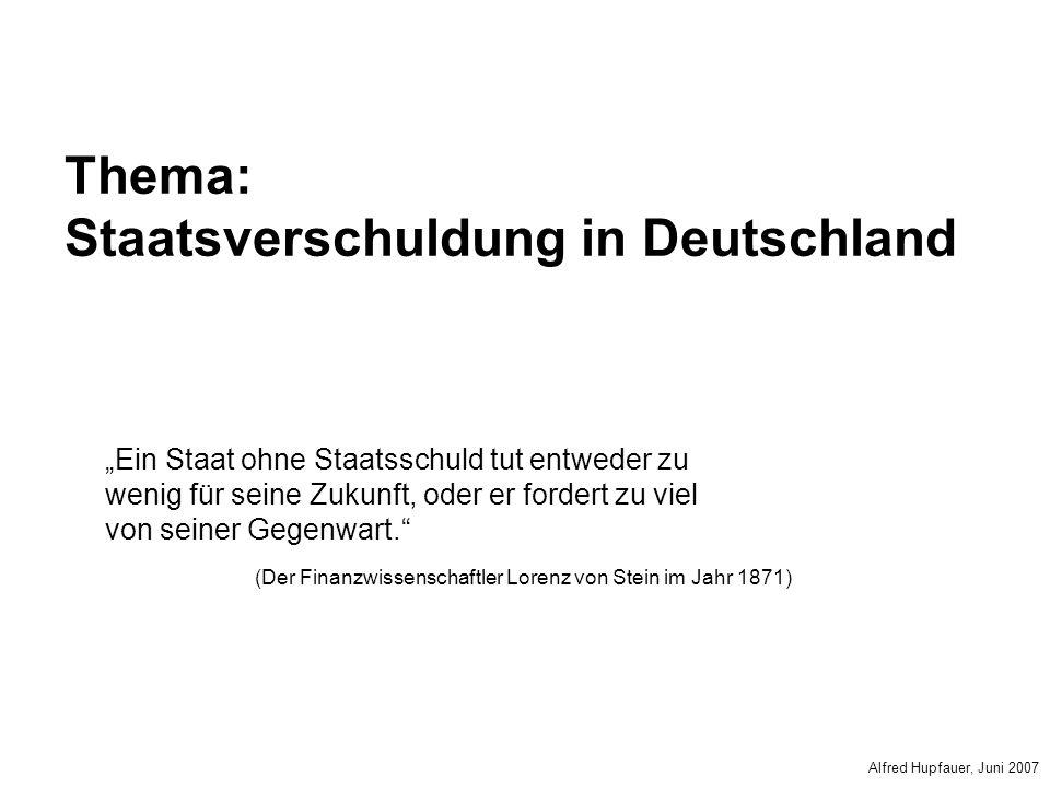 Thema: Staatsverschuldung in Deutschland
