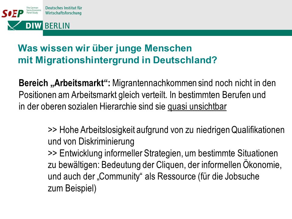 Was wissen wir über junge Menschen mit Migrationshintergrund in Deutschland