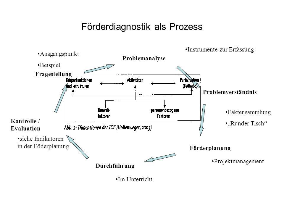 Förderdiagnostik als Prozess