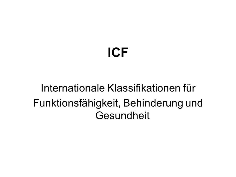 ICF Internationale Klassifikationen für