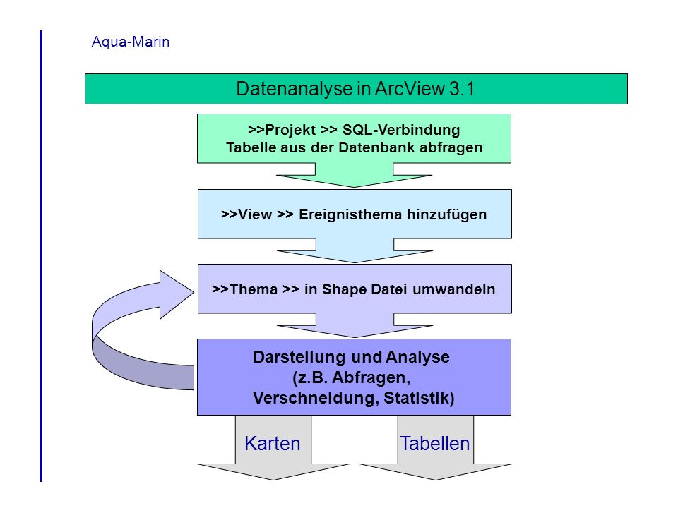 Datenanalyse in ArcView 3.1