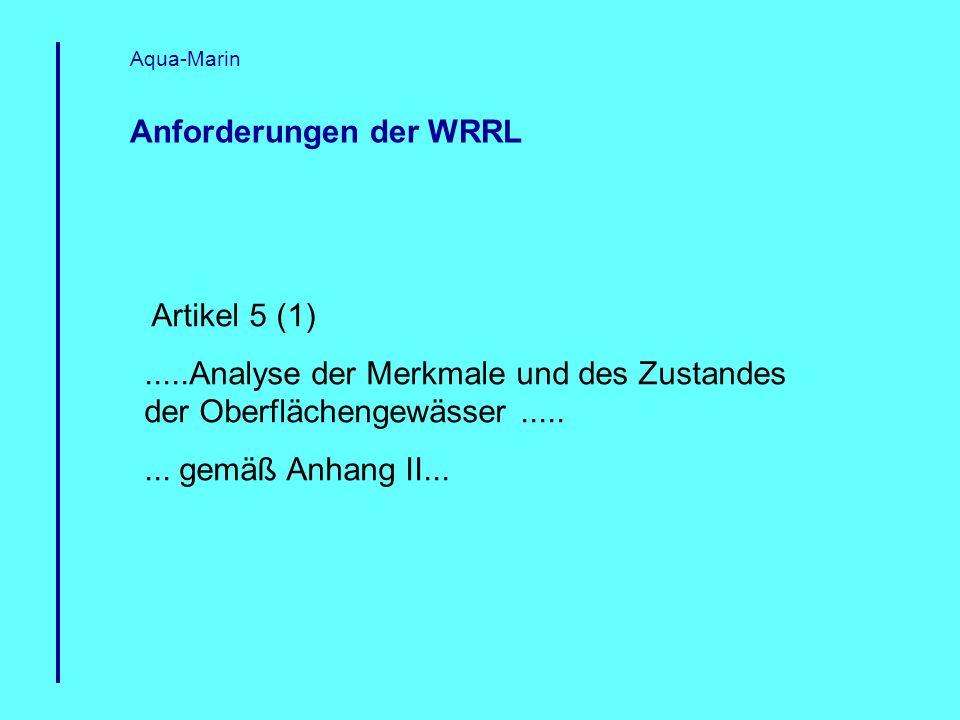 Anforderungen der WRRL