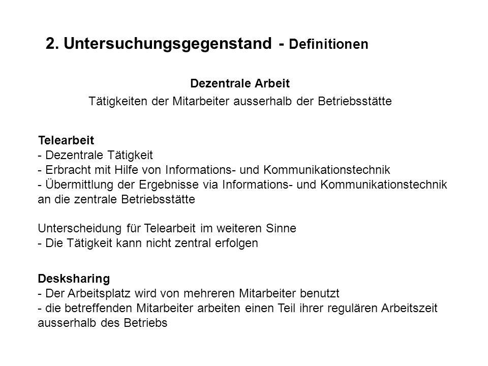 2. Untersuchungsgegenstand - Definitionen