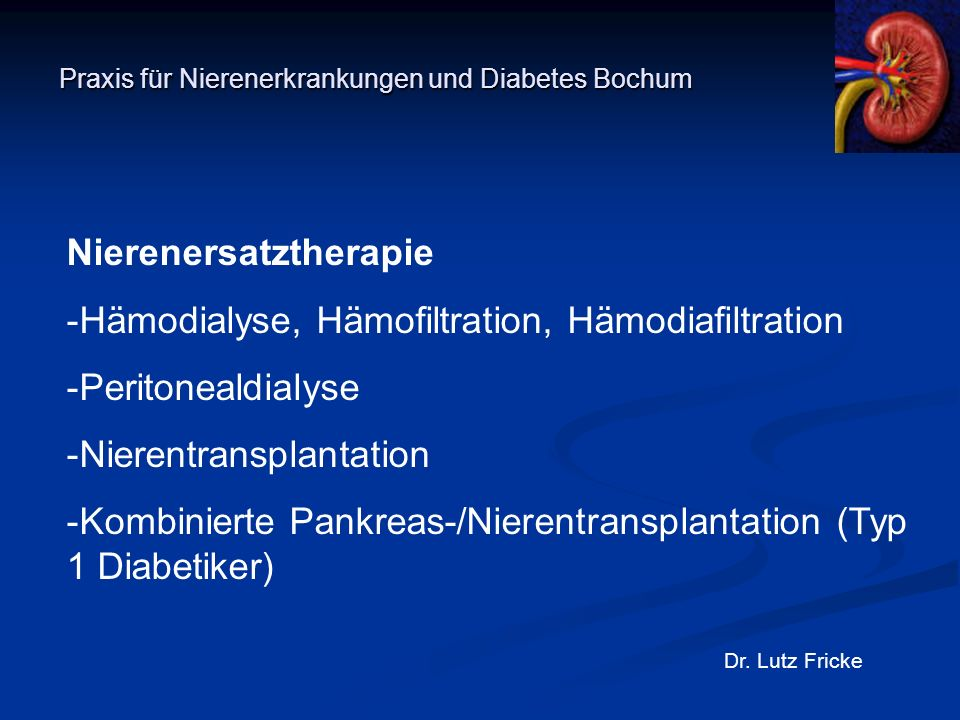 Praxis für Nierenerkrankungen und Diabetes Bochum
