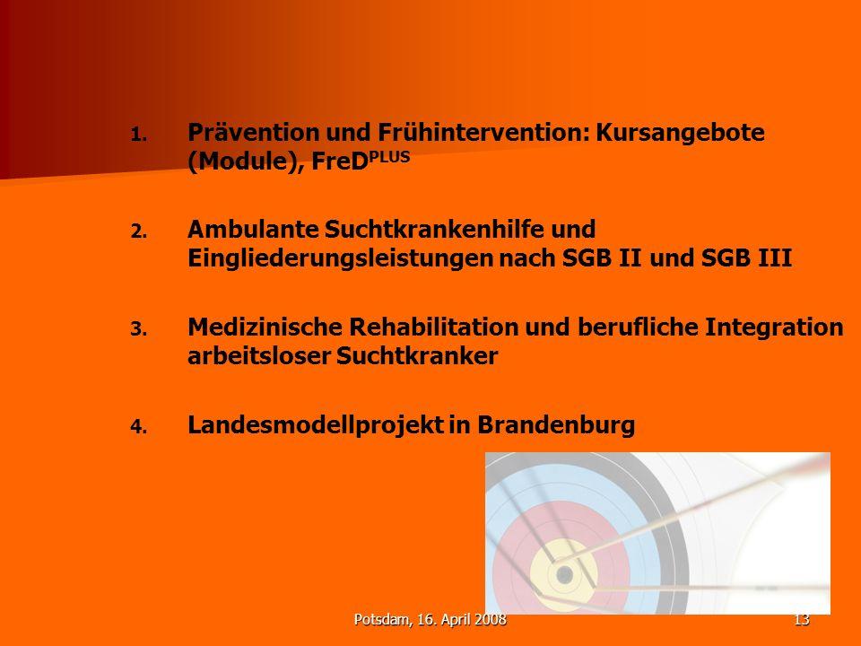 Prävention und Frühintervention: Kursangebote (Module), FreDPLUS