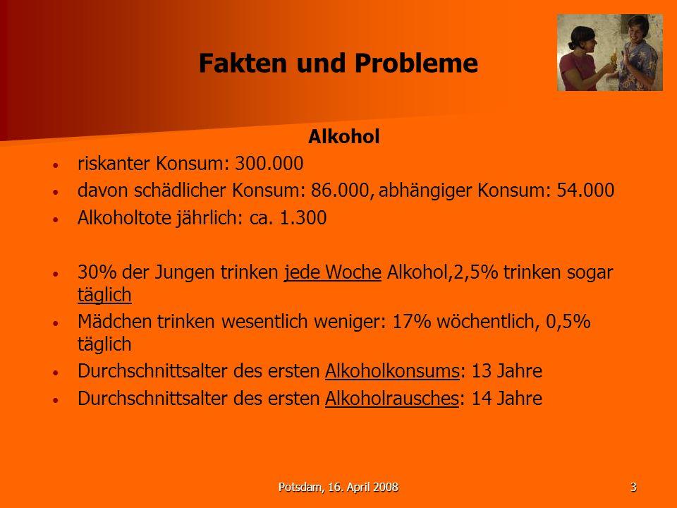 Fakten und Probleme Alkohol riskanter Konsum: 300.000