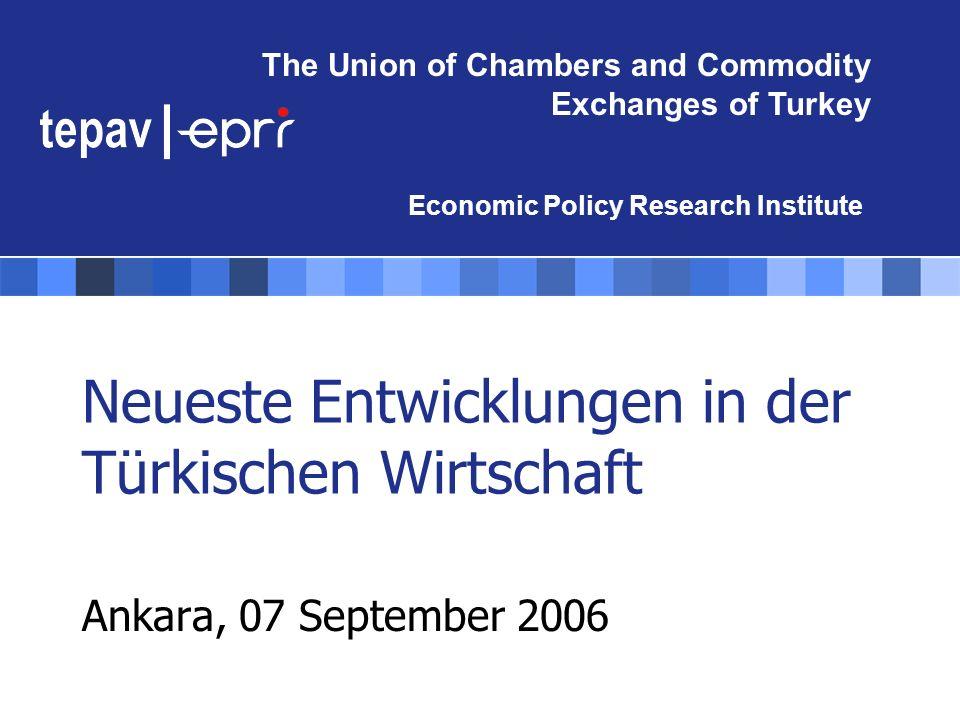 Neueste Entwicklungen in der Türkischen Wirtschaft