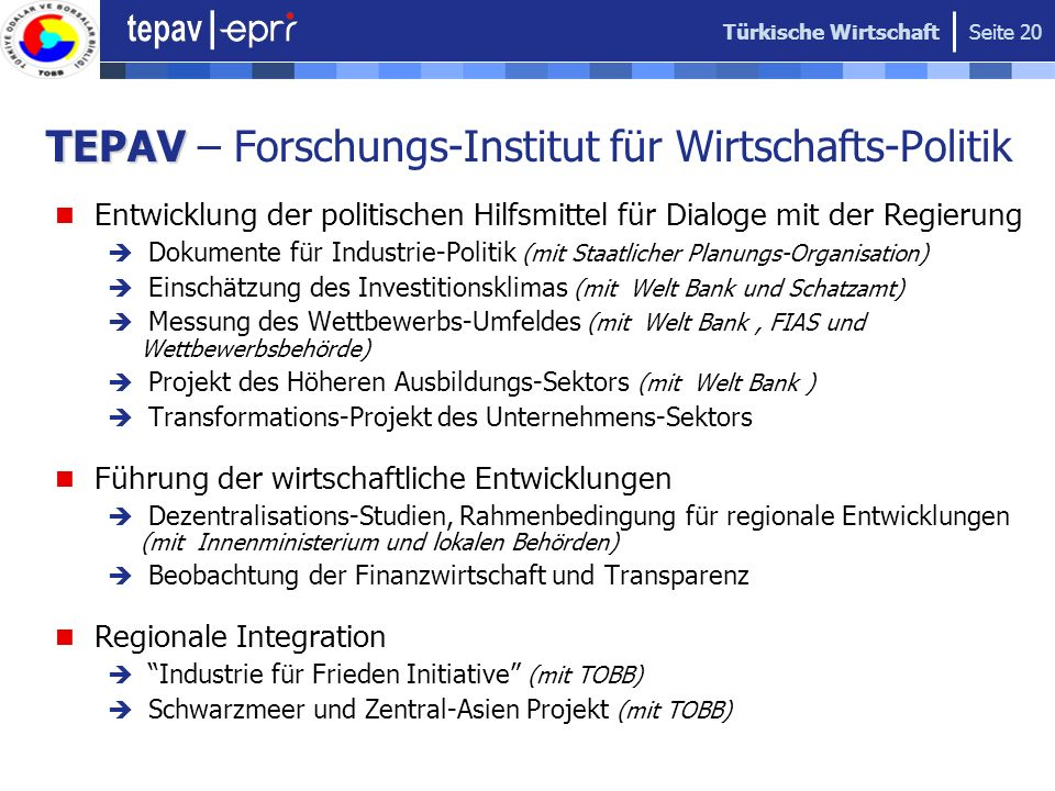 TEPAV – Forschungs-Institut für Wirtschafts-Politik