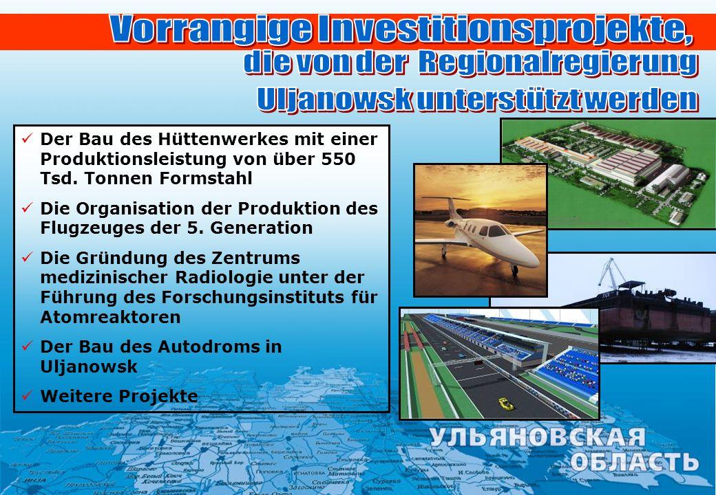 Vorrangige Investitionsprojekte,