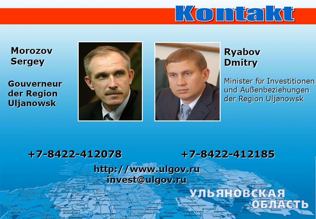 Kontakt +7-8422-412078 +7-8422-412185 Morozov Ryabov Sergey Dmitry