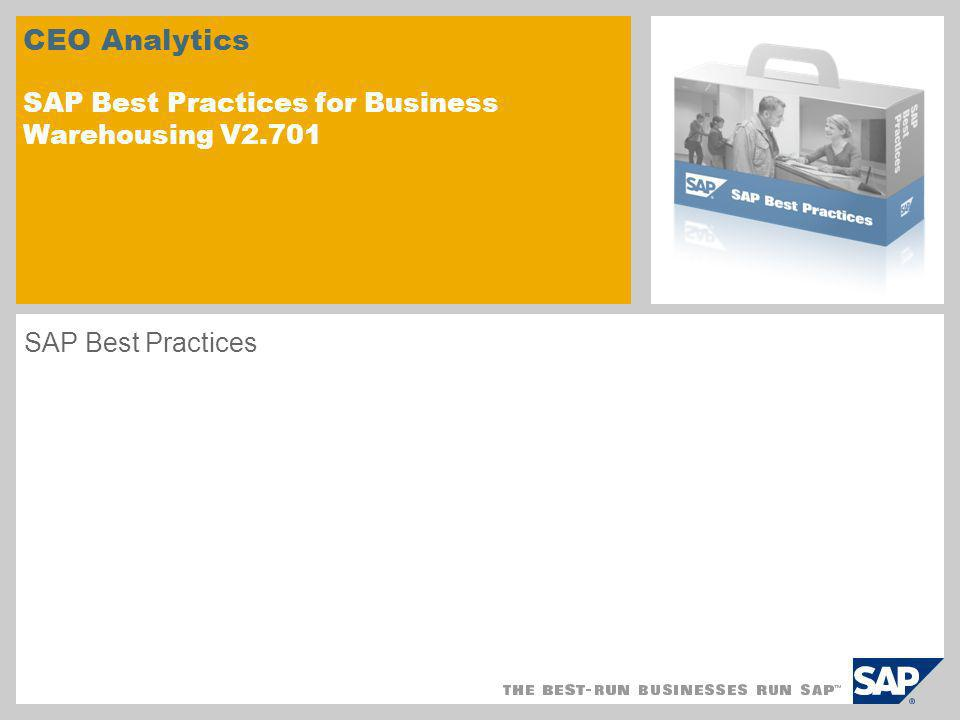 CEO Analytics SAP Best Practices for Business Warehousing V2.701