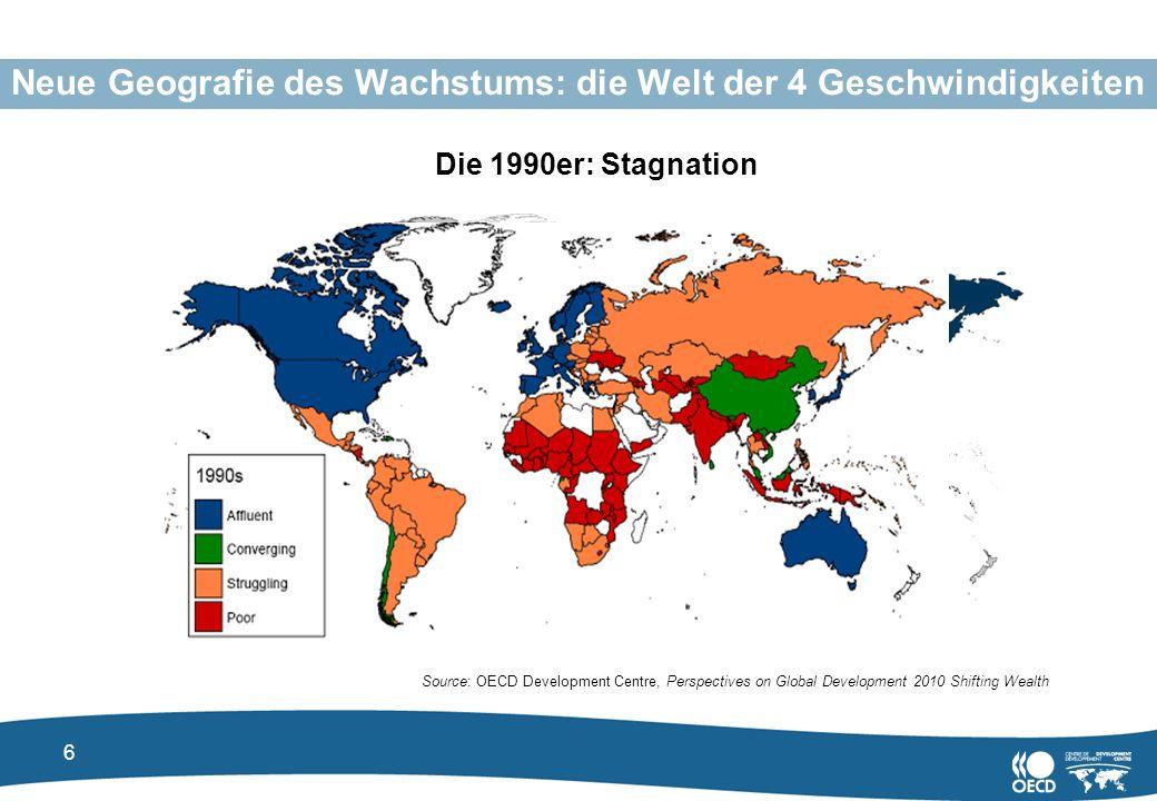 Neue Geografie des Wachstums: die Welt der 4 Geschwindigkeiten