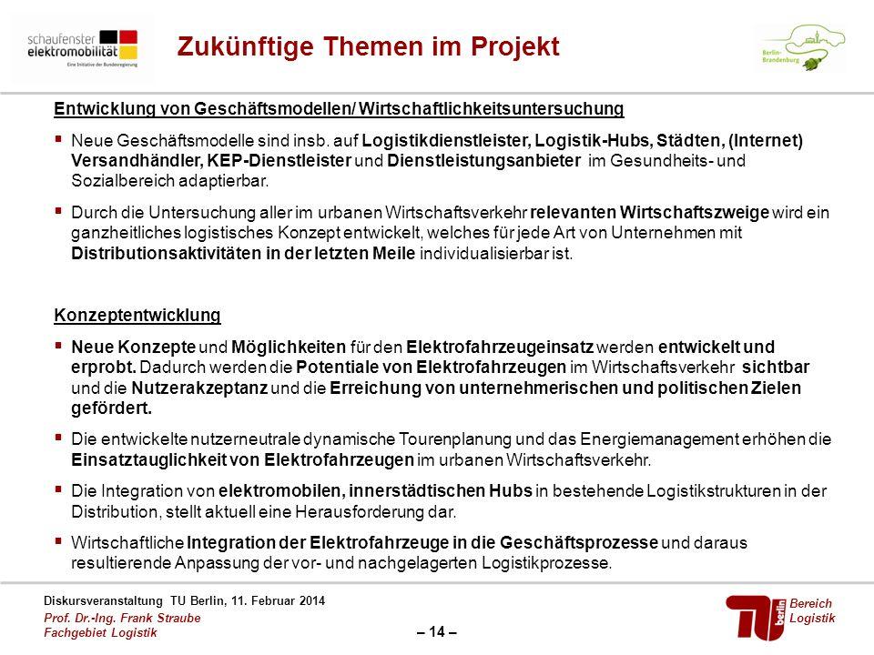 Zukünftige Themen im Projekt