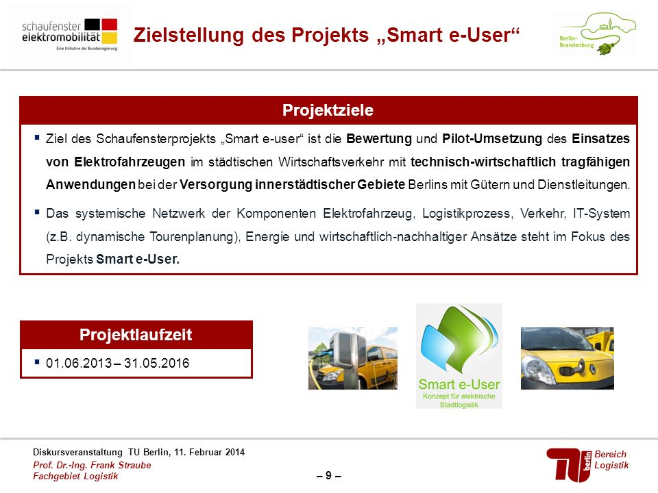 "Zielstellung des Projekts ""Smart e-User"
