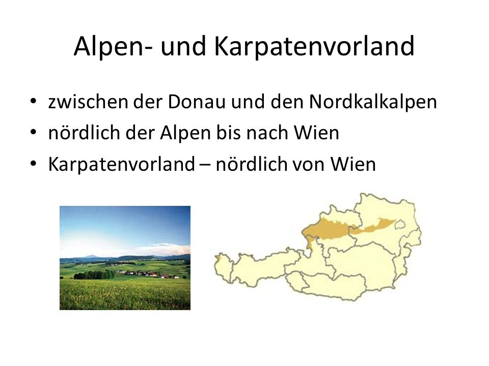 Alpen- und Karpatenvorland