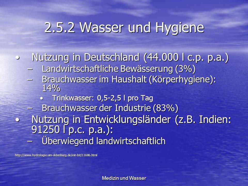 2.5.2 Wasser und Hygiene Nutzung in Deutschland (44.000 l c.p. p.a.)