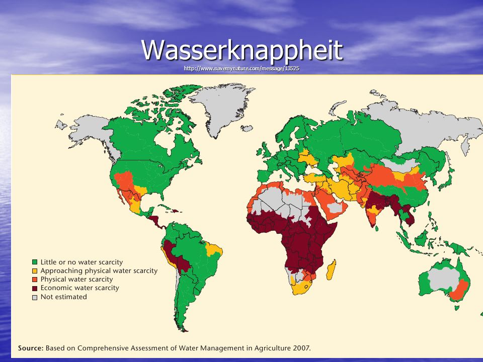 Wasserknappheit http://www.savemynature.com/message/13525