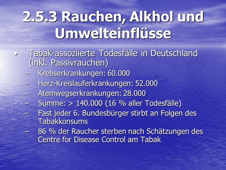 2.5.3 Rauchen, Alkhol und Umwelteinflüsse
