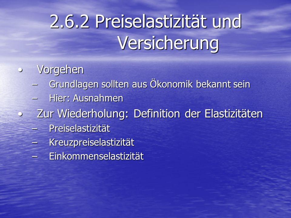 2.6.2 Preiselastizität und Versicherung