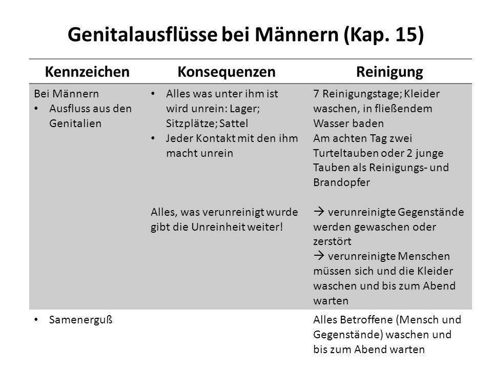 Genitalausflüsse bei Männern (Kap. 15)