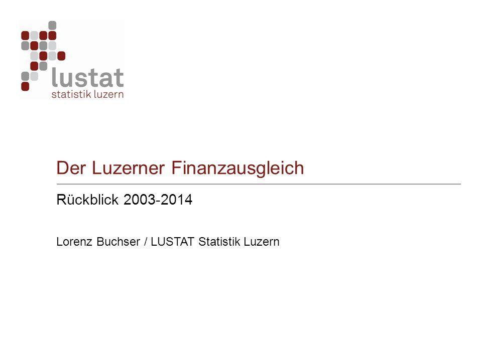 Der Luzerner Finanzausgleich