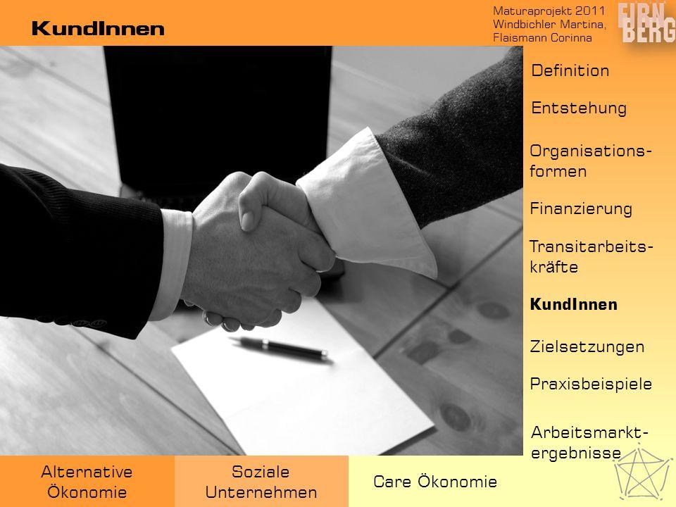 KundInnen Definition Entstehung Organisations-formen Finanzierung
