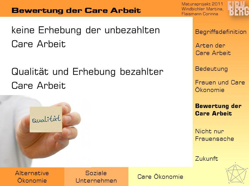 Bewertung der Care Arbeit