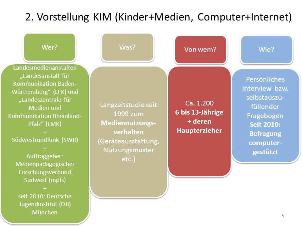 2. Vorstellung KIM (Kinder+Medien, Computer+Internet)