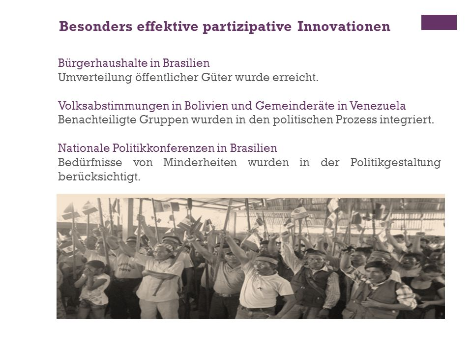Besonders effektive partizipative Innovationen