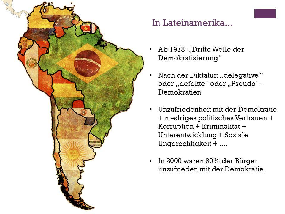 """In Lateinamerika... Ab 1978: """"Dritte Welle der Demokratisierung"""