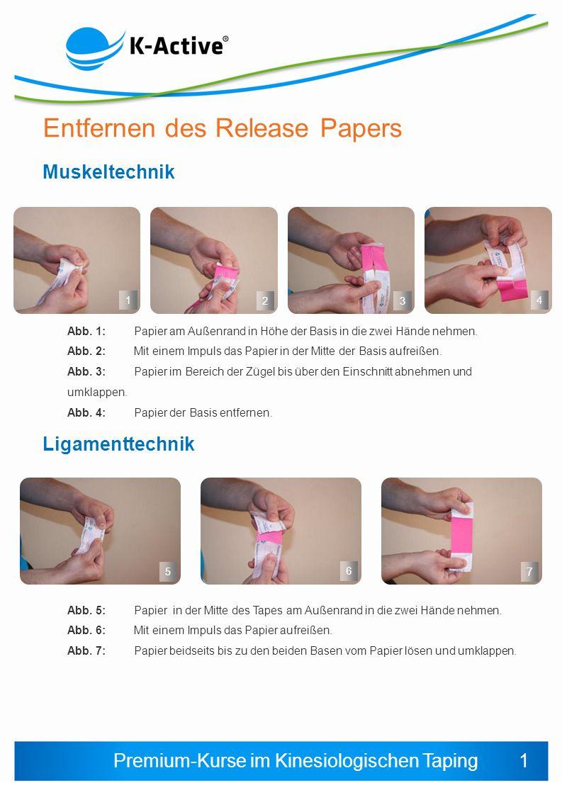 Entfernen des Release Papers