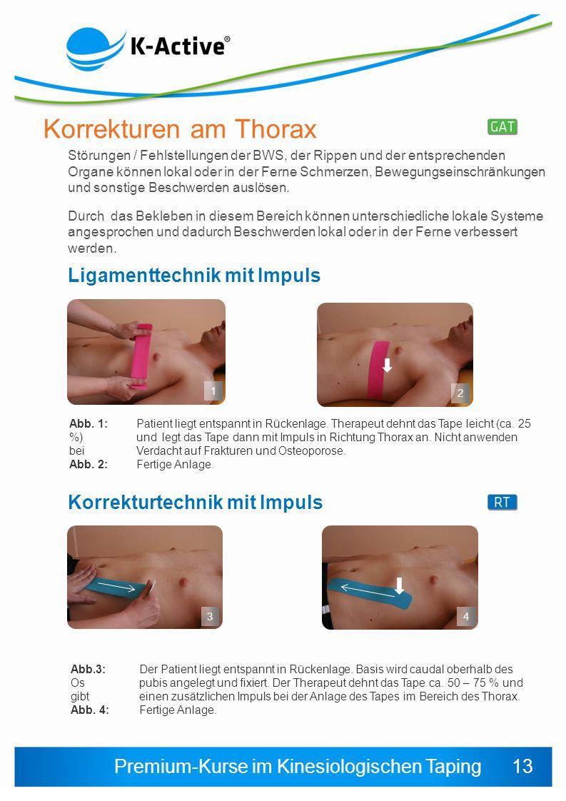 Korrekturen am Thorax Ligamenttechnik mit Impuls