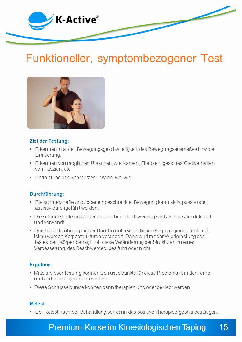 Funktioneller, symptombezogener Test