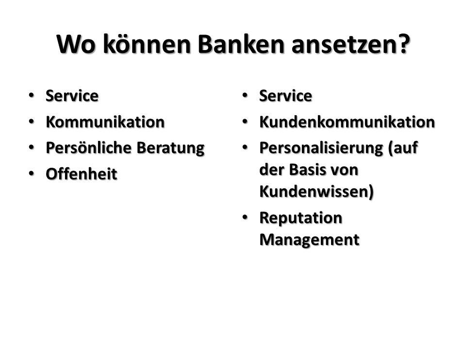 Wo können Banken ansetzen