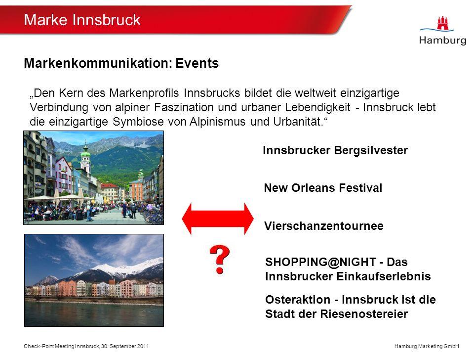 Marke Innsbruck Markenkommunikation: Events