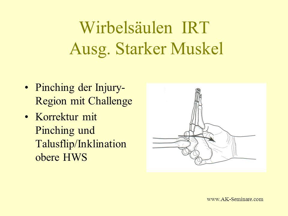 Wirbelsäulen IRT Ausg. Starker Muskel