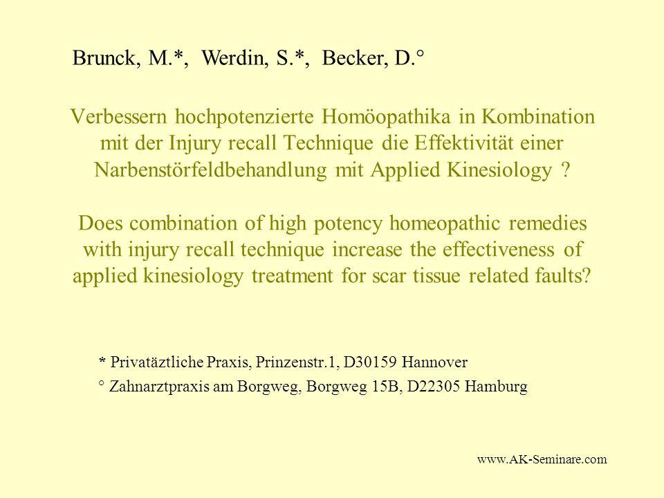 Brunck, M.*, Werdin, S.*, Becker, D.°