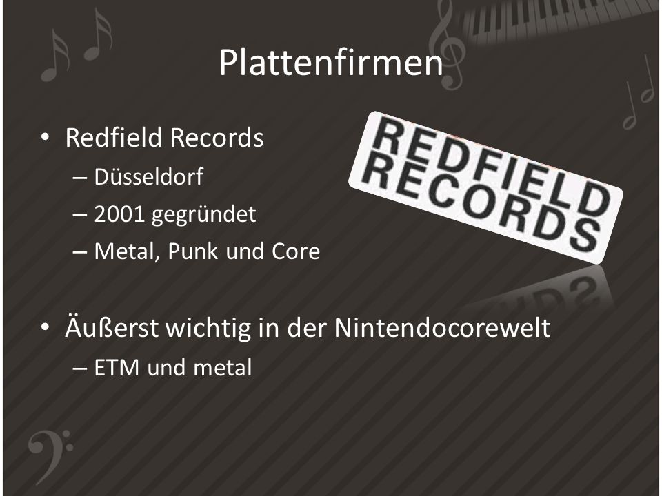 Plattenfirmen Redfield Records Äußerst wichtig in der Nintendocorewelt