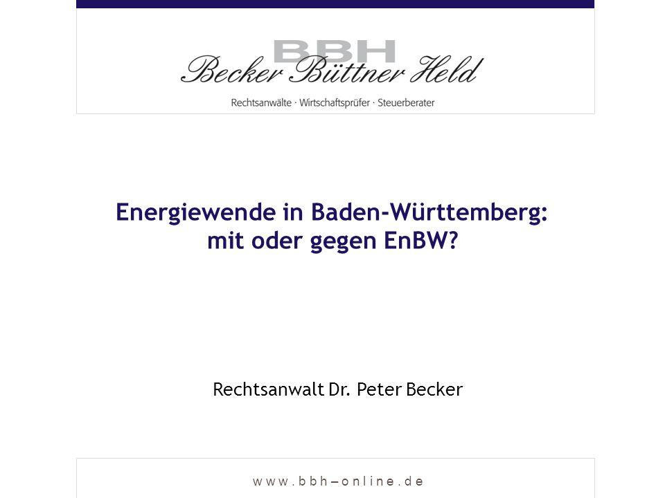 Energiewende in Baden-Württemberg: mit oder gegen EnBW