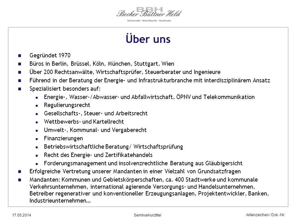 Über uns Gegründet 1970. Büros in Berlin, Brüssel, Köln, München, Stuttgart, Wien.